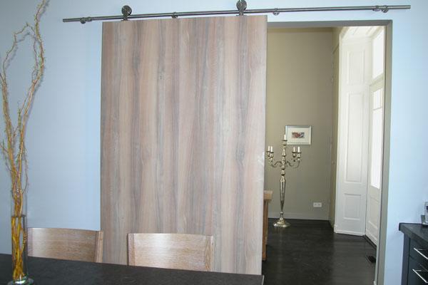 Scheidingswand met schuifdeur for Schuifdeuren woonkamer