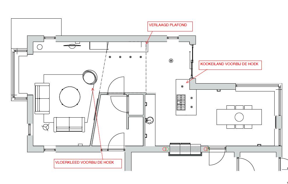 Een dubbele l kamer inrichten dubbel lastig doret for Kamer inrichten plattegrond